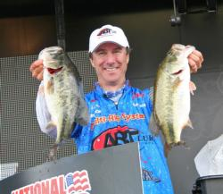 With the largest bag of day three, Oakley, Calif. pro Charley Almassey surged up from 10th place to fourth.