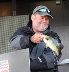 Second-place co-angler Tom Elliott caught his fish on a crankbait, dropshot and spinnerbait.