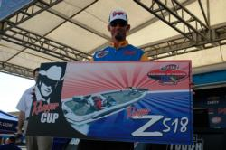 Boater Jeff Erickson from Phoenix, Ariz., finished the 2012 TBF National Championship in second place. Although Erickson tied eventual winner Gilbert Gagner with a total weight of 35 pounds, 5 ounces, he lost out on the tiebreaker. However, Erickson did walk away with a nice Ranger Cup prize package.