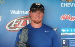 Andrew Clayton of Westpoint, Tenn., took home the co-angler title at the March 31 Walmart BFL Choo Choo Division event on Lake Guntersville. Clayton, who netted a total catch of 26 pounds, 10 ounces, won nearly $2,000 in prize money.