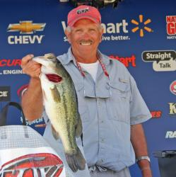 Tied for third with 14-6, Larry Caldwell found his fish moving from the backs of coves to the outer edges.