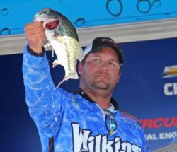 Second-place pro Zach King caught his fish by wacky rigging trick worms.