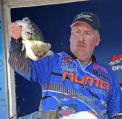 Dead-sticking soft plastics proved effective for Rich Dalbey.