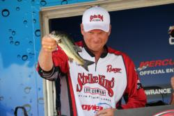 After a slow third day, Strike King pro Phil Marks finished in fourth place.