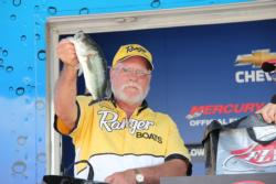A watermelon red Zoom Magnum Trick Worm was the top bait for second-place co-angler Neil Herline.