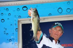 Dan Wilson Texas-rigging creature baits and placed fourth on Rayburn.