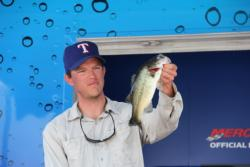 Third-place co-angler Chad McClendon caught his fish on a small spinnerbait.