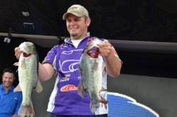 Ryan Patterson of Kansas State used a 46-pound, 15-ounce catch to win the 2012 National Guard FLW College Fishing National Championship.