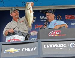 Second-place pro Ken Ware shows off his biggest fish on day three.