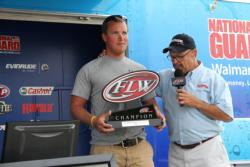 After oversleeping on the final morning, Cal Clark won the co-angler division by 5 ounces.