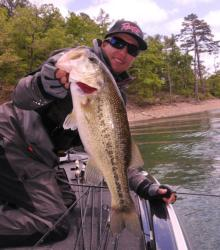 Brent Ehrler shows off the kind of quality largemouths needed to win on Beaver Lake.