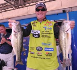 Scott Canterbury is in fifth place after day one with 14-5.
