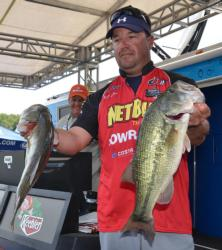 Kelley Jaye caught a 14-pound, 15-ounce limit to finish the day fifth.