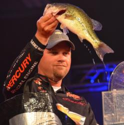 Luke Clausen slipped to third after catching a 12-pound limit Sunday.