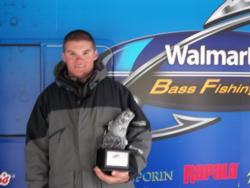 Cody Wayne Hall of Xenia, Ohio, took the co-angler title in the April 28 Buckeye Division event on Indian Lake with a total catch of 7 pounds, 13 ounces. Hall was awarded over $2,000 in prize money.