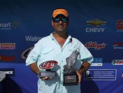 Todd Boudreaux of Gray, La., won the co-angler title in the April 28 Cowboy Division event on the Atchafalaya Basin with a total catch of 11 pounds, 14 ounces. He took home over $1,300 in prize money.