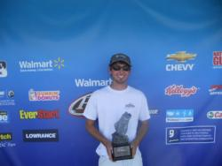 Anthony Lively of Lincolnton, Ga., won the co-angler title in the April 28 Savannah River Division event on Lake Russell with a total catch of 11 pounds, 6 ounces. Lively was awarded close to $2,000 in winnings.