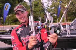 The Spinnerbait Kid turned Alabama Rig Kid: Alex Davis shows off his winning lures.