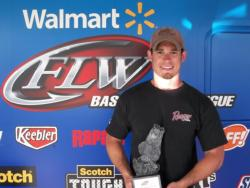 Brian Transon of Salisbury, N.C., won the co-angler title at the May 5 North Carolina Division event on Lake Wylie with a total weight of 12 pounds, 11 ounces. For his efforts he took home over $1,600 in winnings.