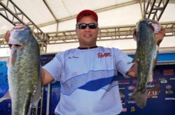 Bolstered by a total catch of 44 pounds, 11 ounces, co-angler Leo J. Reiter of Greenup, Ill., finished the Potomac River event in third place.