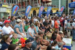 A packed crowd was on hand to witness day-four weigh-in at National Harbor.