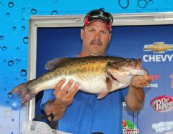 Tied for second place, George Jeane Jr rocked the weigh-ins with his monstrous 13-pound, 4-ounce bass.
