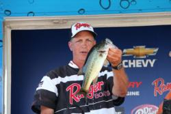 Kerry Barnett came two fish short of a limit, but still finished third.