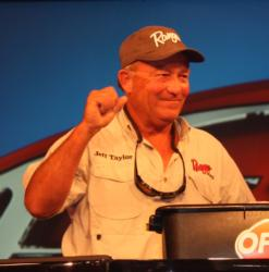 Jeff Taylor ended up fifth in the Co-angler Division with 40 pounds, 9 ounces of bass caught over three days.