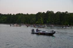 Anglers wait to kick off the Northern Division EverStart on Kerr Lake.