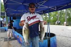 Ranger pro Cavin Young of Prince George, Va., brought in a limit worth 14 pounds, 3 ounces.