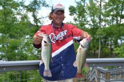 Thomasville, N.C., pro George Lambeth stays consistent and brings his two-day total to 24 pounds, 9 ounces.