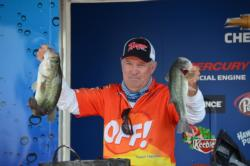Ranger pro Nick Gainey weighed a three-day total of 35 pounds, 11 ounces to take home second.
