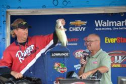 George Lambeth of Thomasville, N.C., took third place at the EverStart Northern Division event with a three-day total weight of 34 pounds, 13 ounces.