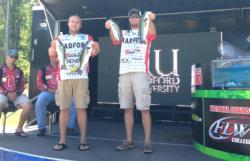The Radford University team of Brett Meyn and Blaine Chitwood won the National Guard FLW College Fishing event on Kerr Lake with a total catch of 10 pounds, 7 ounces. The duo ultimately netted $5,000 in winnings.