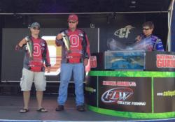 The Ohio State team of Quinn Miller and Jeff Moorman finished the National Guard FLW College Fishing event on Kerr Lake in second place with a total catch of 10 pounds, 6 ounces. The team took home $1,500 in prize money.