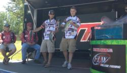 The Virginia Tech team of Preston Chrisman and Carson Rejzer finished the National Guard FLW College Fishing event on Kerr Lake in fourth place with a total catch of 9 pounds, 4 ounces.