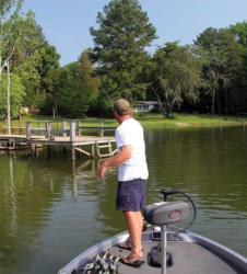 McGuire pitched a few docks in the morning, but a drop in water level spoiled the shallow bite.