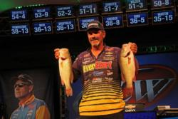 Arkansas pro Ron Shuffield continued his improvement today by moving up to fifth place.