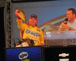 Snapple pro Jacob Powroznik caught all of his final-round fish on a Spro frog.
