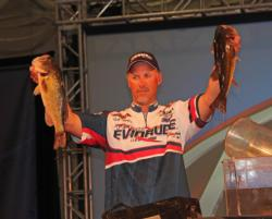 Tennessee pro Andy Morgan spent his day in the north end of the lake and wound up in fifth place.