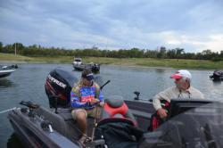 National Guard pro Mark Courts rigs a rod for the day.