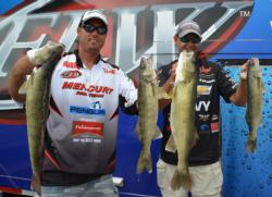 Chevy pro Jason Przekurat and co-angler Kevin Yancey brought 17 pounds, 3 ounces to the scales and sit in second place.
