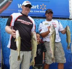 Mercury pro Paul Steffen and co-angler Craig Salmonson of Timmins, Ontario, had a solid weight of 16 pounds, 15 ounces to grab fourth place overall.