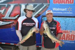 Mercury pro John Campbell brought 13 pounds, 15 ounces to the scales on day two, bringing his overall total to 30-0 and sits in second place.