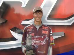 Co-angler Joseph Zapf of Whippany, N.J., won the July 14 Northeast Division event on Oneida Lake with a total weight of 17 pounds. He walked away with a check for close to $2,000 in winnings.