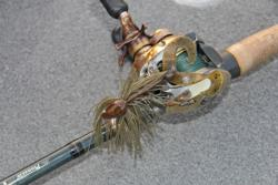 David Wolak will use a Title Shot Jig to target largemouth in the lake
