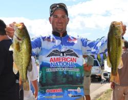 Shane Long rose to third place after catching three bass Friday weighing 9 pounds, 10 ounces.