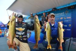 Co-angler Phillip Riccio Jr. assumes the lead going into the final day with a overall weight of 53 pounds, 14 ounces.