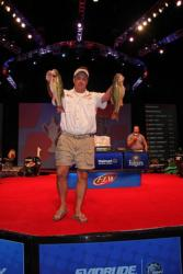Second-place co-angler Matt Krekovich sits just 9 ounces off the lead.