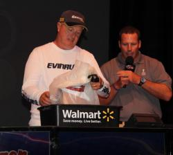 Iowa co-angler Ralph Myhlhousen tied for fifth on day one.